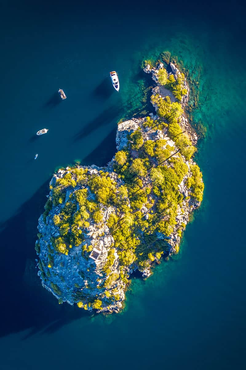 Directly-Above-Fannette-Island-Emerald-Bay-Lake-Tahoe-California
