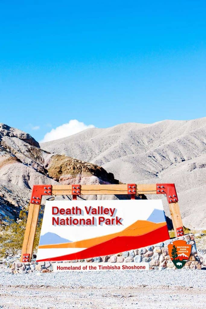 Entrance of Death Valley National Park