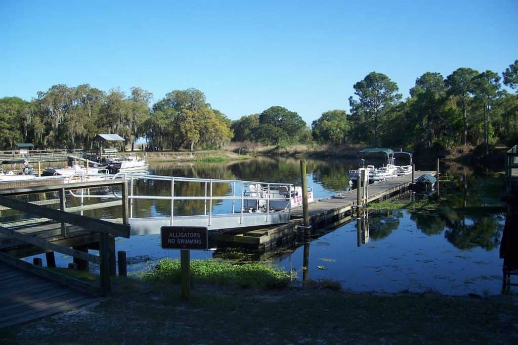 Lake Kisimee Dock at Orlando, Florida