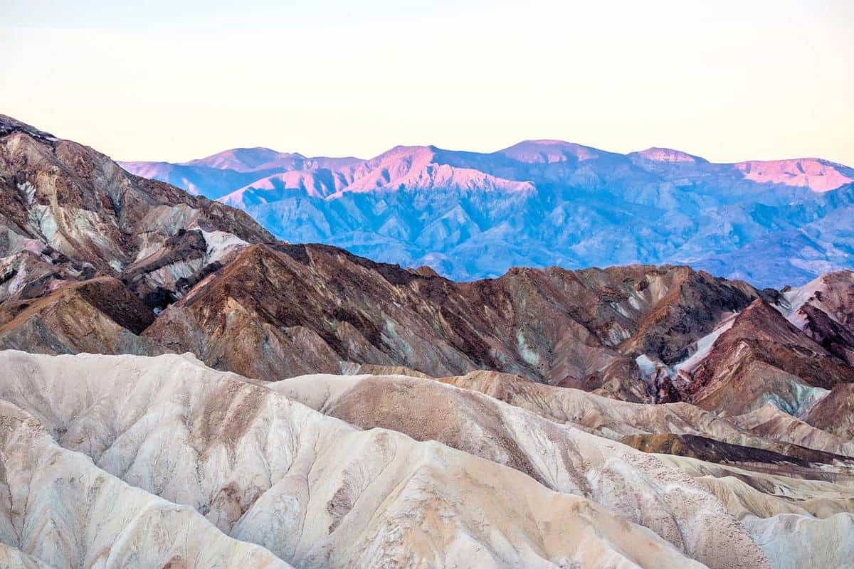 Mountains in Death Valley National Park at sunrise