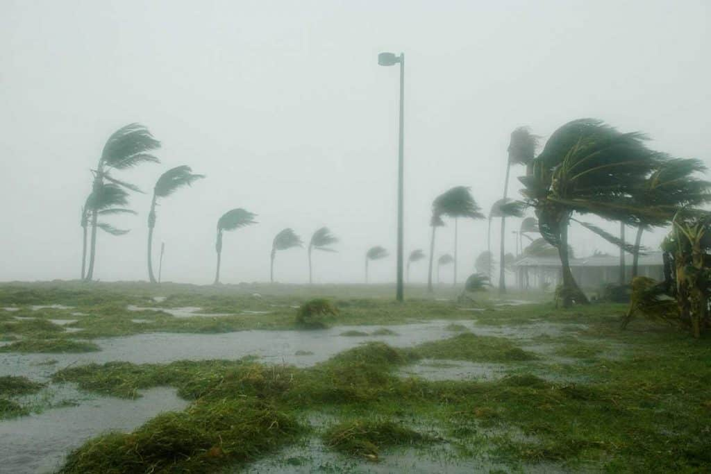 Hurricane in Key west florida