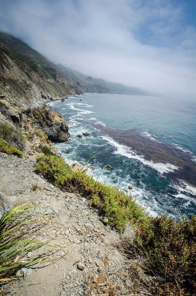 Rugged scenery along the Pacific Coast Highway near Big Sur