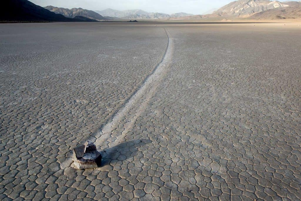Sailing stone at Racetrack Playa in Death Valley National Park