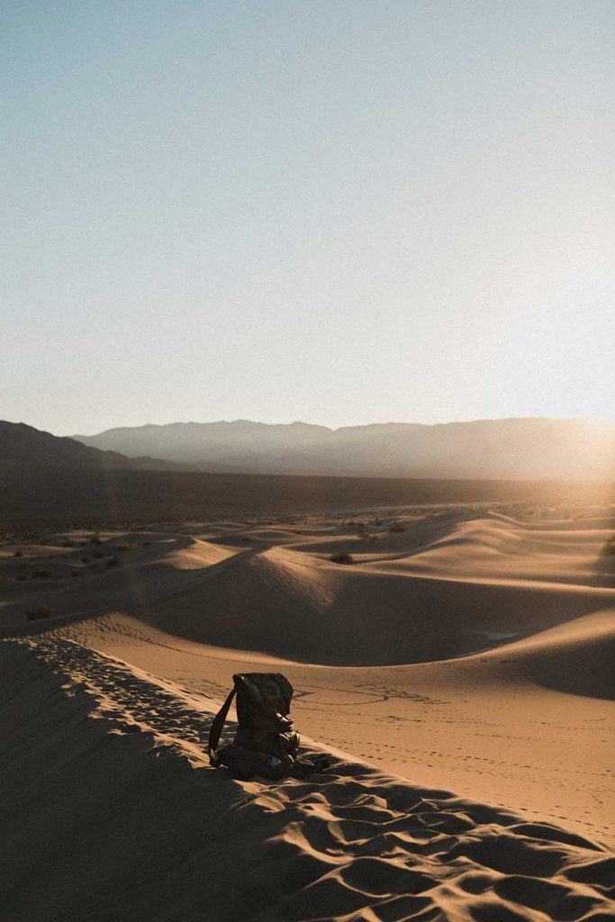 View of Death Valley in California