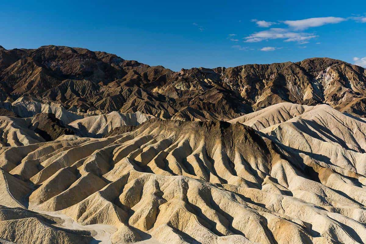 Zabriskie point in Death Valley National Park in California