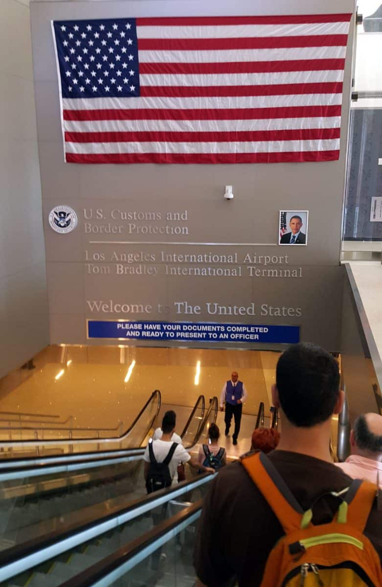 Entering US airport
