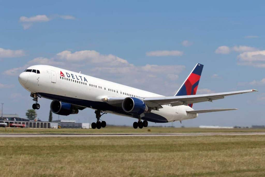 Delta Airlines taking off
