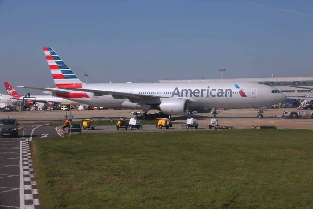 American Airlines preparing for take-off