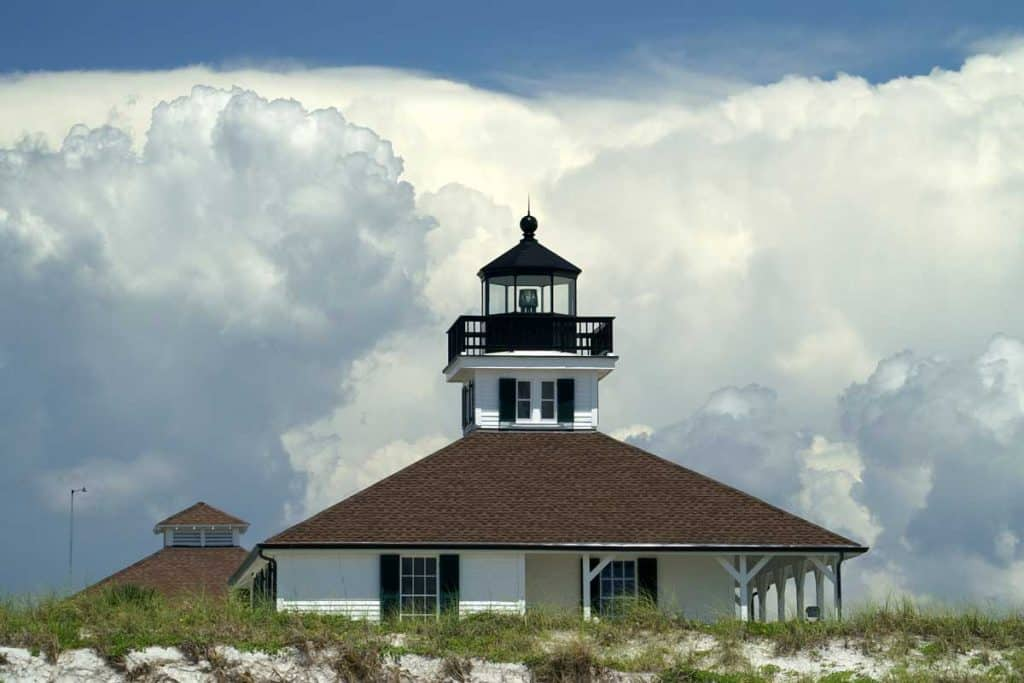 Scenic photograph of Boca Chita lighthouse