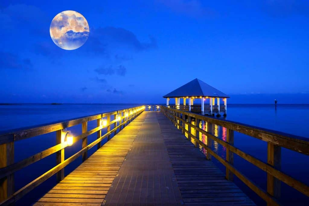 Full moon at Key Largo, Florida