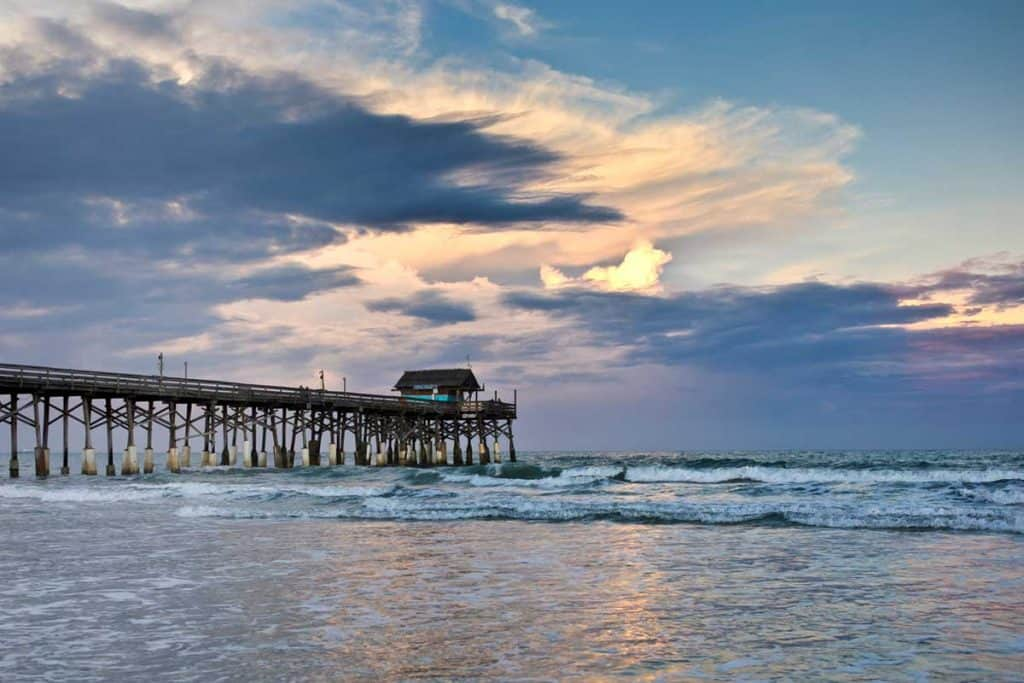Wooden pier at Cocoa Beach, Florida