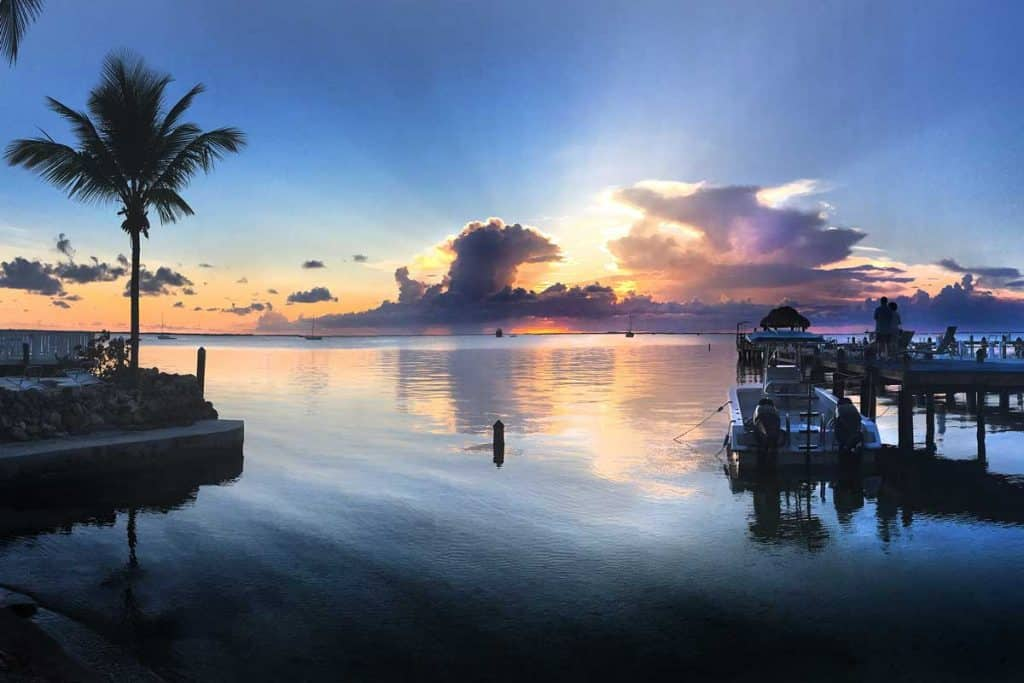 Sunset view of Florida Keys
