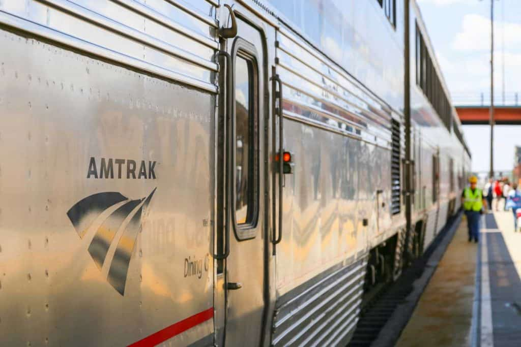 Huge train of Amtrak
