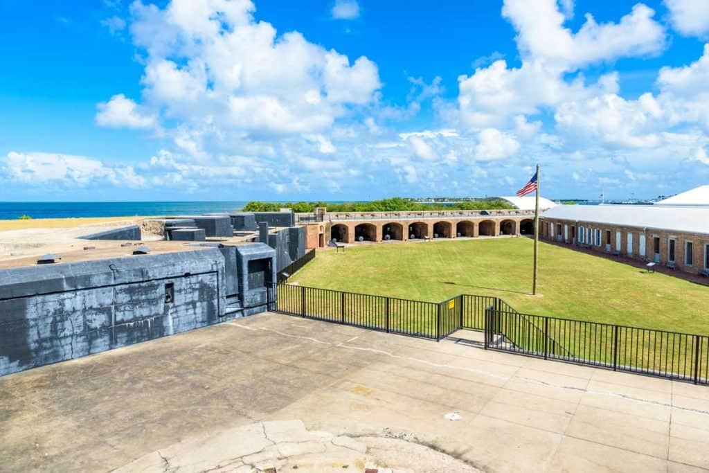 Scenic view of Fort Zachary Taylor historic state park