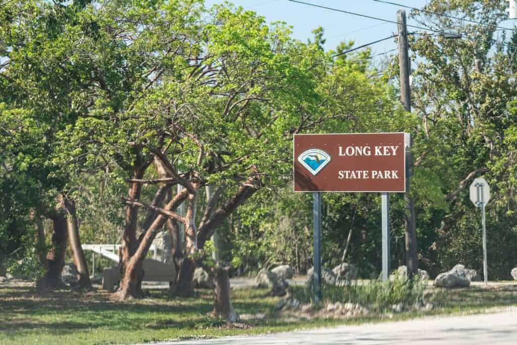 Long Key State park signage