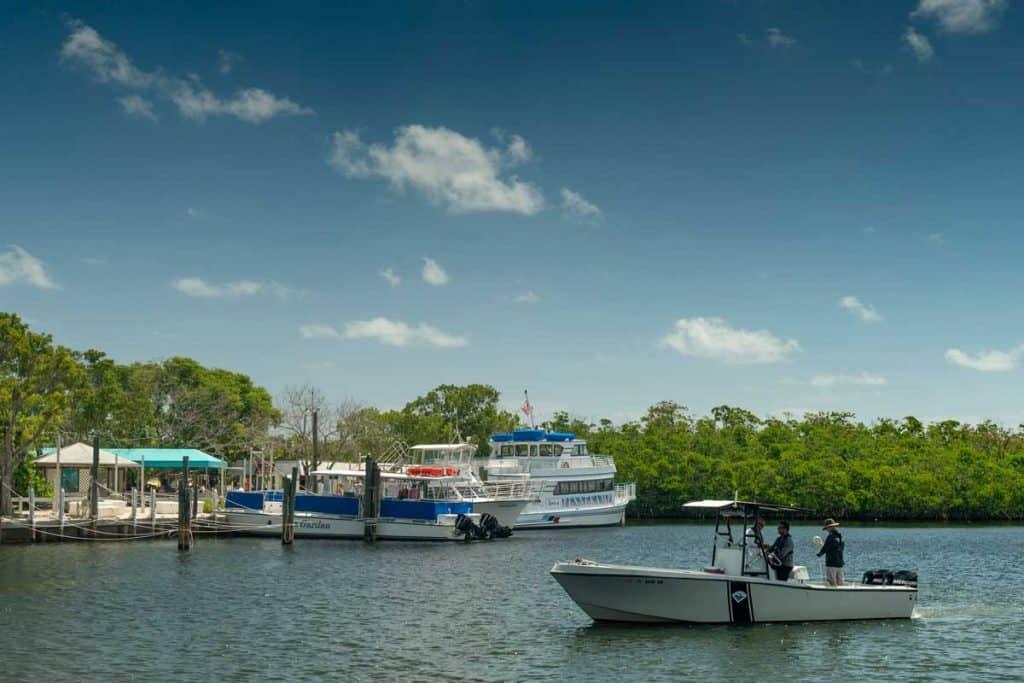 Kayak station of John Pennkamp coral reef state park in Florida keys