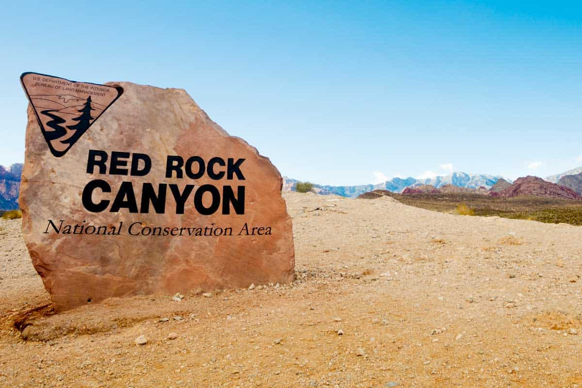 photograph of the Red Rock Canyon entrance.