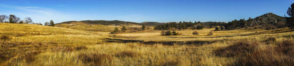 Wide panoramic shot of the landscape at Cuyamaca State Park, San Diego, California
