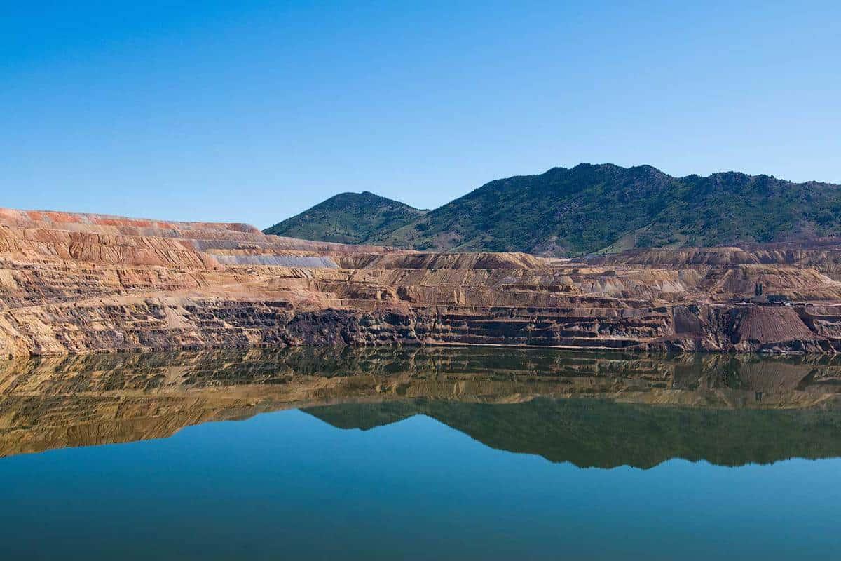 Berkeley Pit, former open pit mine in Butte, Montana