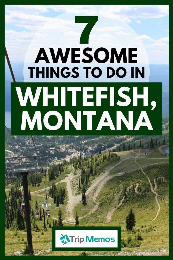 Whitefish, Montana ski slope with beautiful scenery