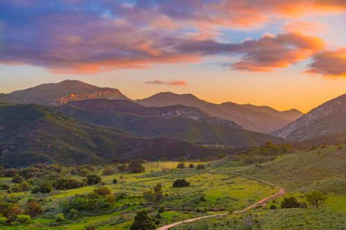 Beautiful and grassy field with stunning sunset at Palomar mountains state park, Palomar Mountain State Park, CA - A Visitor's Guide
