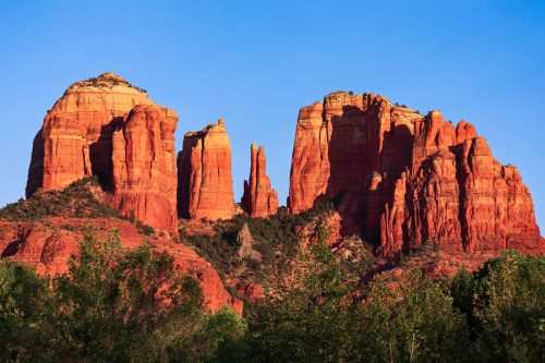 Famous red rock landmark and popular travel destination in Sedona, Arizona at sunset, Red Rock State Park, Arizona - A Visitor's Guide