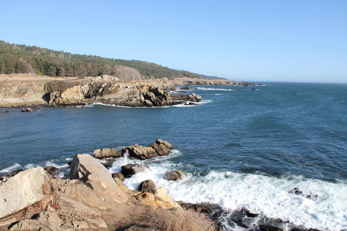 Rock Shoreline of Salt Point State Park, California