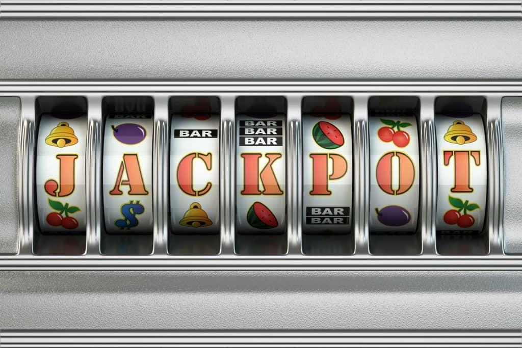 A slot machine hitting the work jackpot
