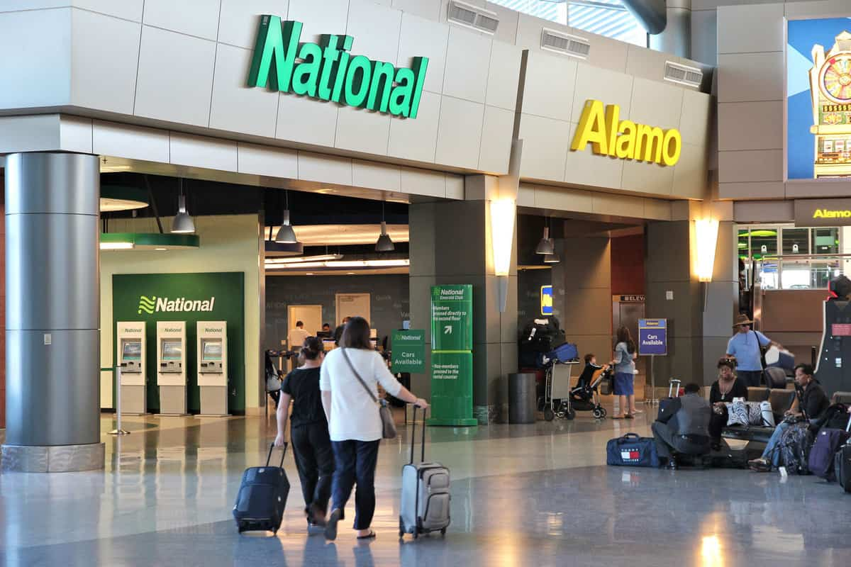 Alamo and National car rental airport office in Las Vegas