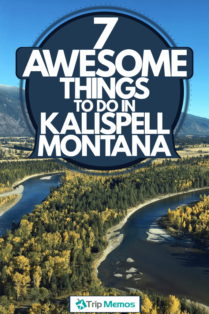 A scenic view of Flat head lake at Kalispell, Montana