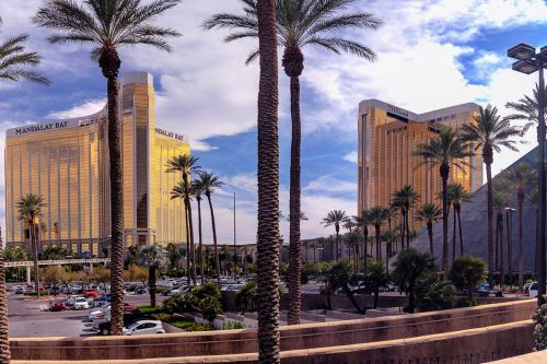 Panoramic view of Mandalay Bay and THEhotel resort and casino hotels, Driving From LA To Las Vegas Vs. Flying - Which Is Better?