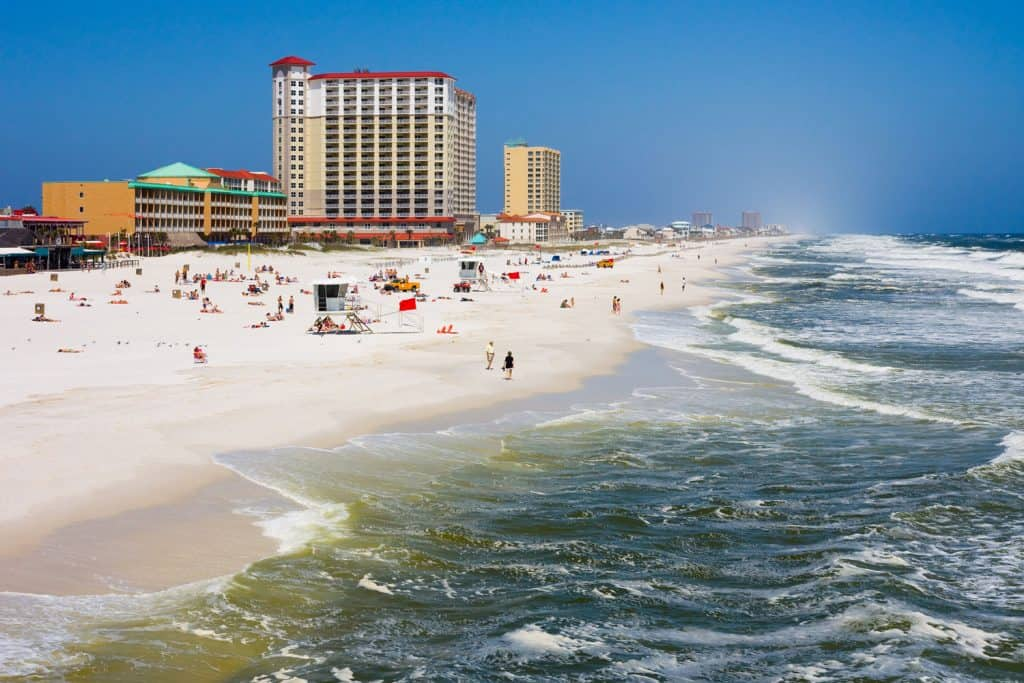 Big waves brewing over the beaches of Pensacola, Florida