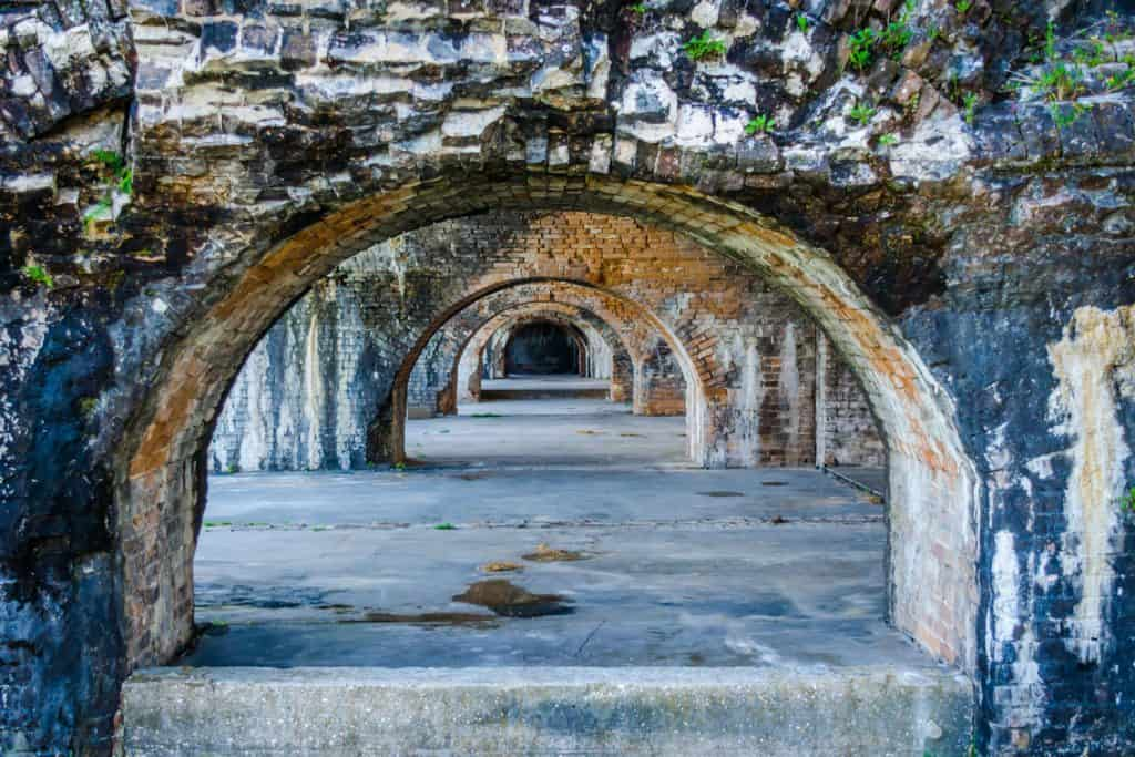 The Port PIckens structure photographed inside located in Pensacola, Florida