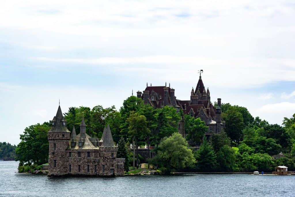The stunning Bodlt castle photographed on the river